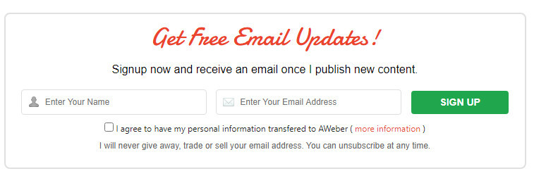 Call-to-action-email-signup-form