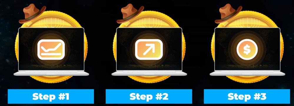 crypto cowboys 3 steps