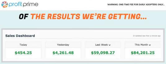 financial results-profit-prime