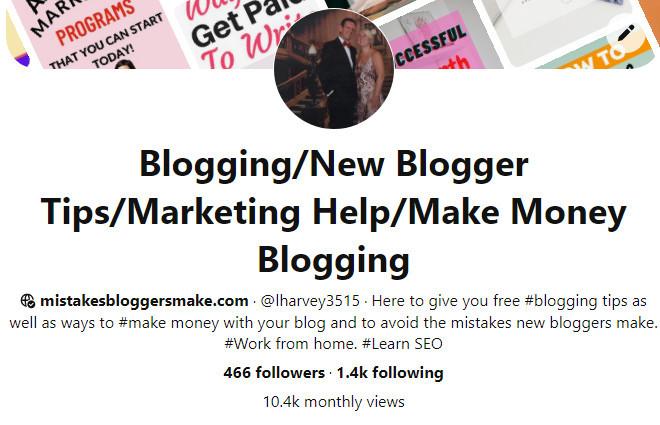 Pinterest-Stats-For-mistakesbloggersmake.com-2-months-in