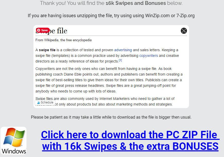 16k Swipe Files Download