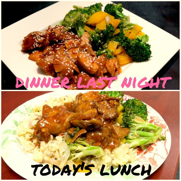 Dinner Last Night & Today's Lunch