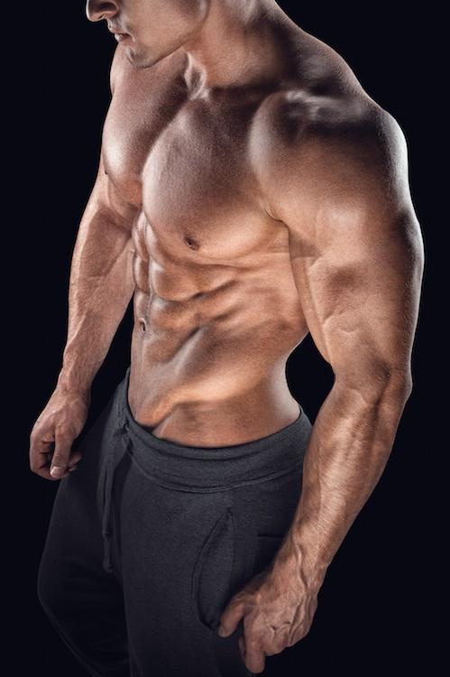 A muscular man's torso