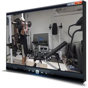 A Tablet Showing A Video Of A Man Performing Bicep Curls