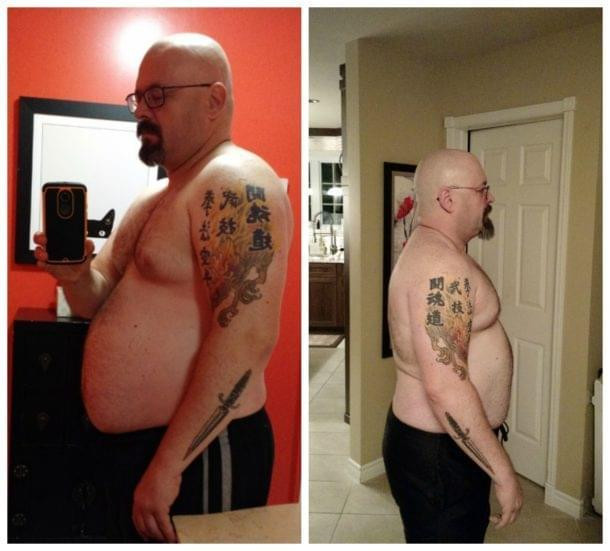 A Man's Before and After Pictures From Following the 28-Day Fat Shredder System