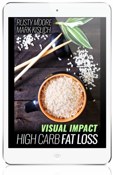 The Visual Impact High Carb Fat Loss Course Displayed on a Smartphone