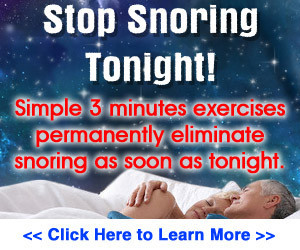 Stop Snoring Tonight - 3 Minute Exercises to Eliminate Snoring