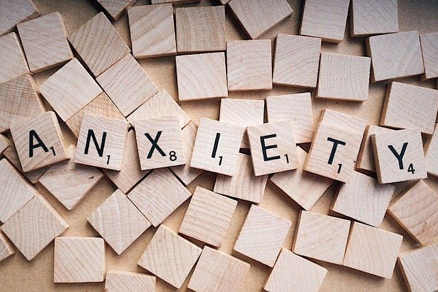 Scrabble Pieces Which Spell Out Anxiety