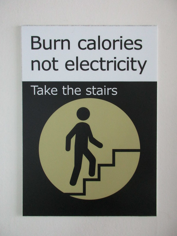 Burn Calories Not Electricity - Take the Stairs