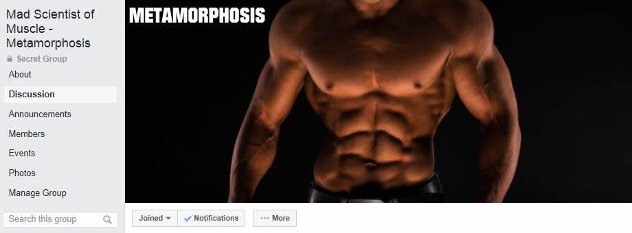 Metamorphosis Private Facebook Group