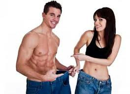 A Man and a Woman Who Have Lost Weight