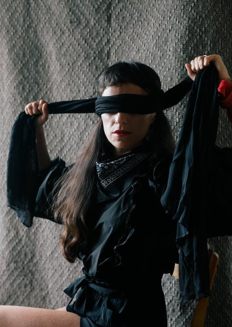 my family rules - be aware of your surroundings - blindfold