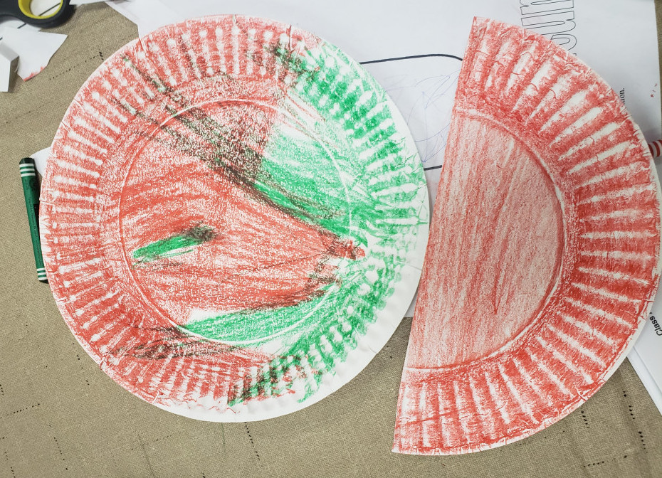 how to get kids to try new foods - paper plates done coloring