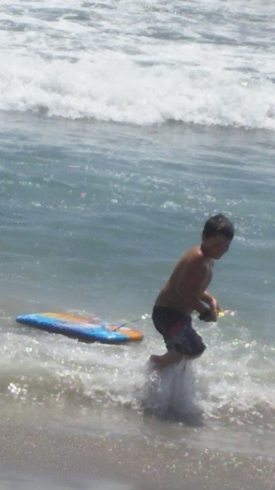 my family rules - be aware of your surroundings - s boogie boarding