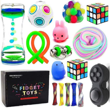 Sensory Fidget Toys Bundle-DNA Stress Relief Balls with Fidget Hand Toys for Anxiety