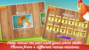 Sight Words Puppy Dash: Vocabulary, Dolch Words Reading, and Spelling Game
