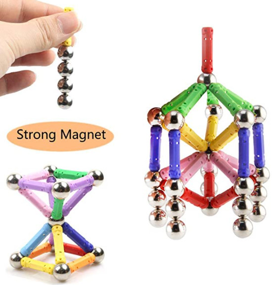 Veatree Magnetic Building Stick Block Toys