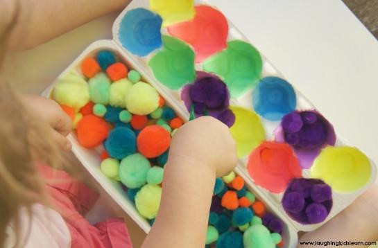 Egg Carton Color Sorting