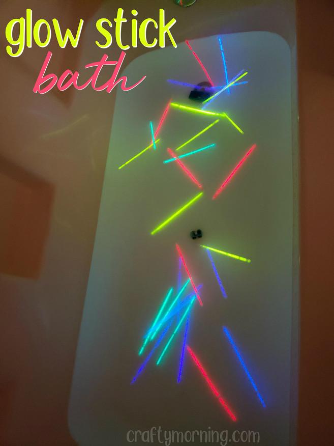 Glow Stick Bath