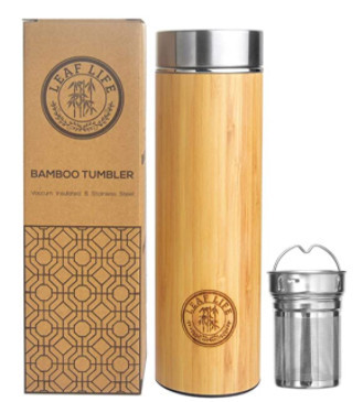 Bamboo Tumbler with Tea Infuser and Strainer