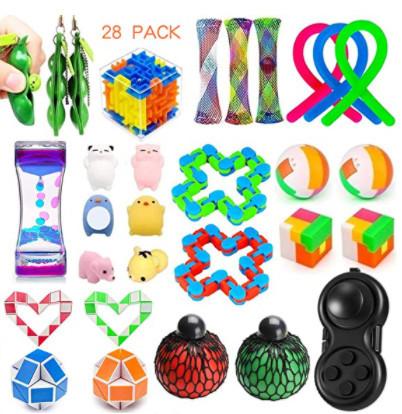 Dciko 28 Pack Fidget Toys Set Sensory Toys Bundle for Kids Adults