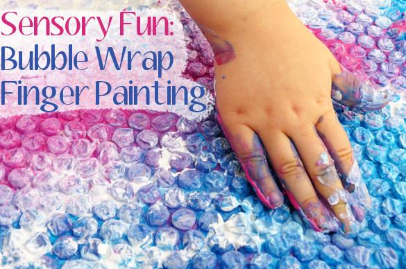 Bubble Wrap Finger Painting