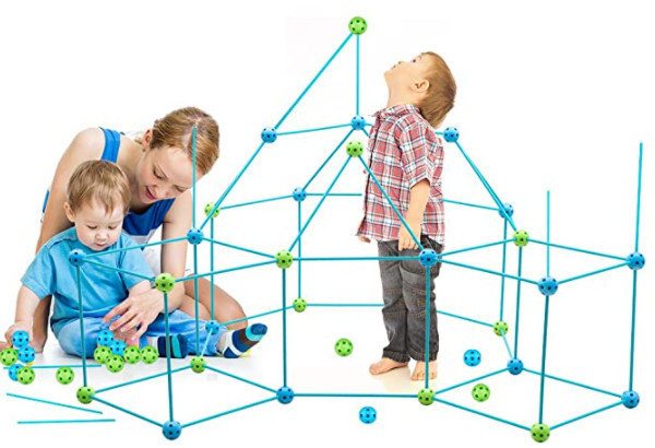 Obuby Kids Construction Fort Building Kit