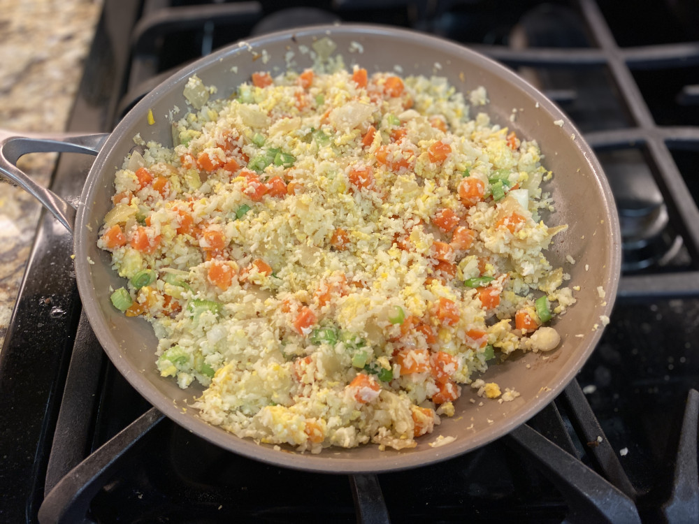 easy low carb cauliflower fried rice