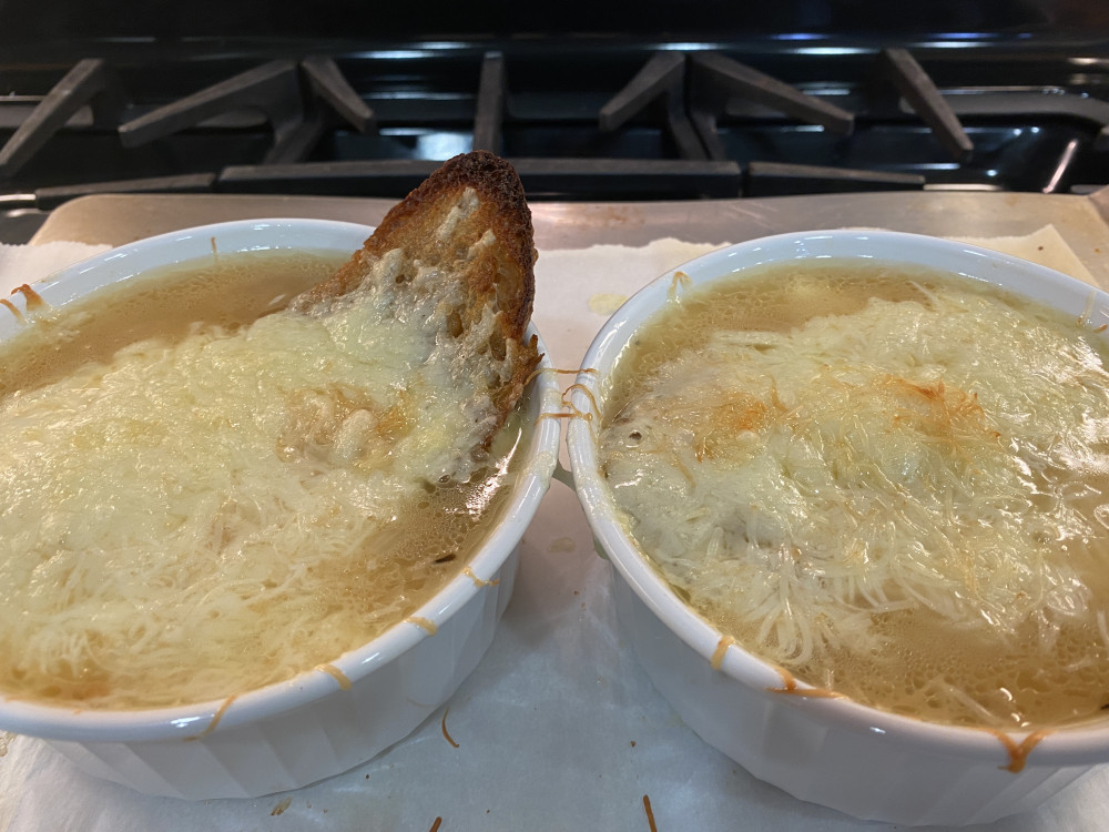 Easy French Onion Soup for Two