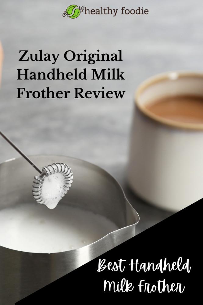 zulay original milk frother handheld