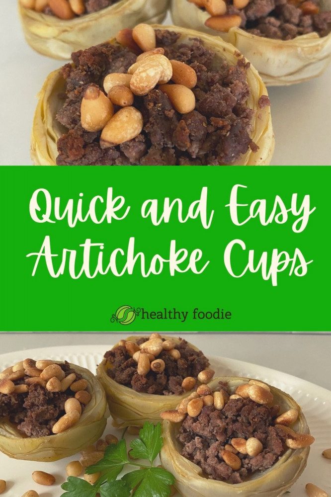 quick and easy artichoke cups