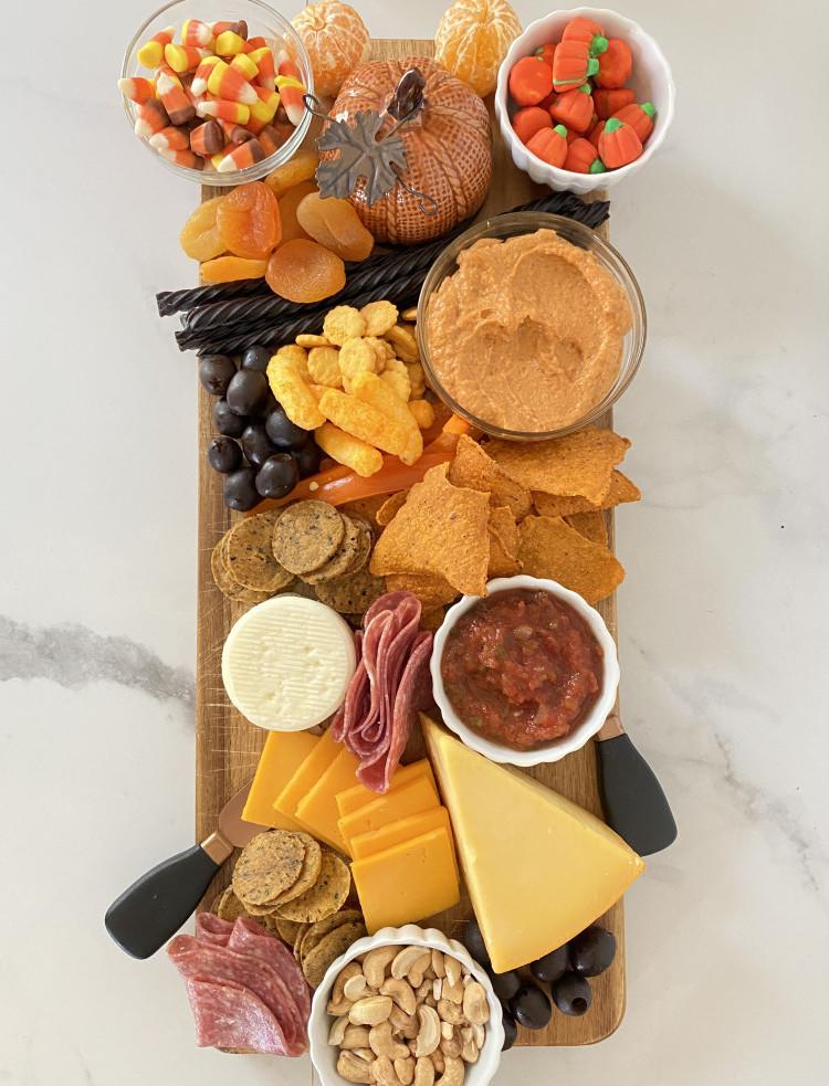 Healthy Halloween Snack Boards