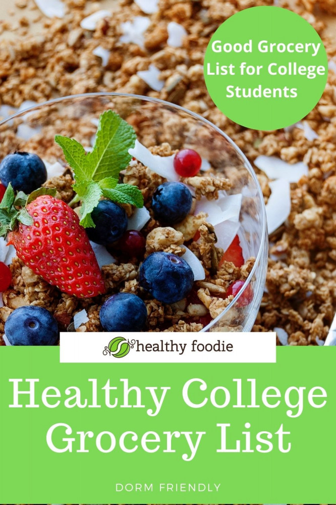Healthy College Grocery List
