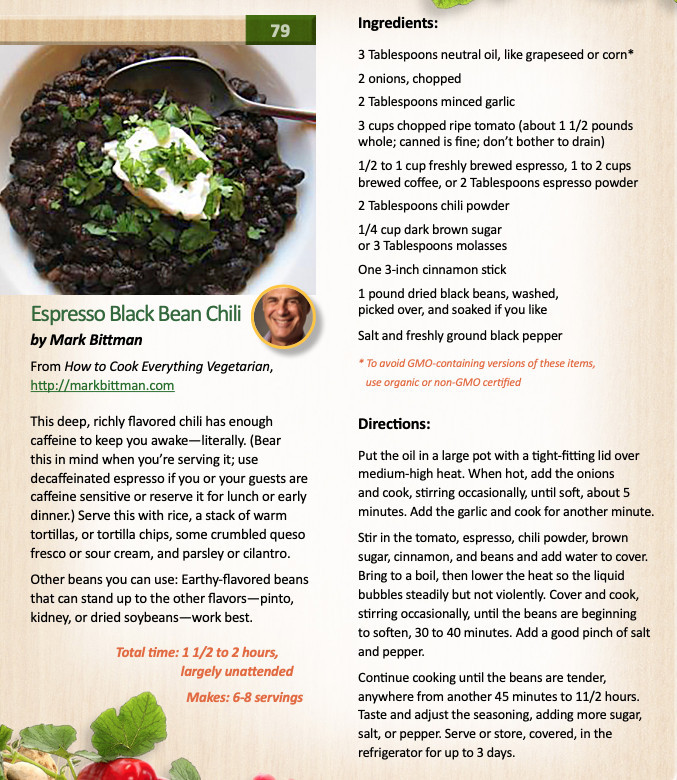what is in a plant based diet - black bean chili recipe