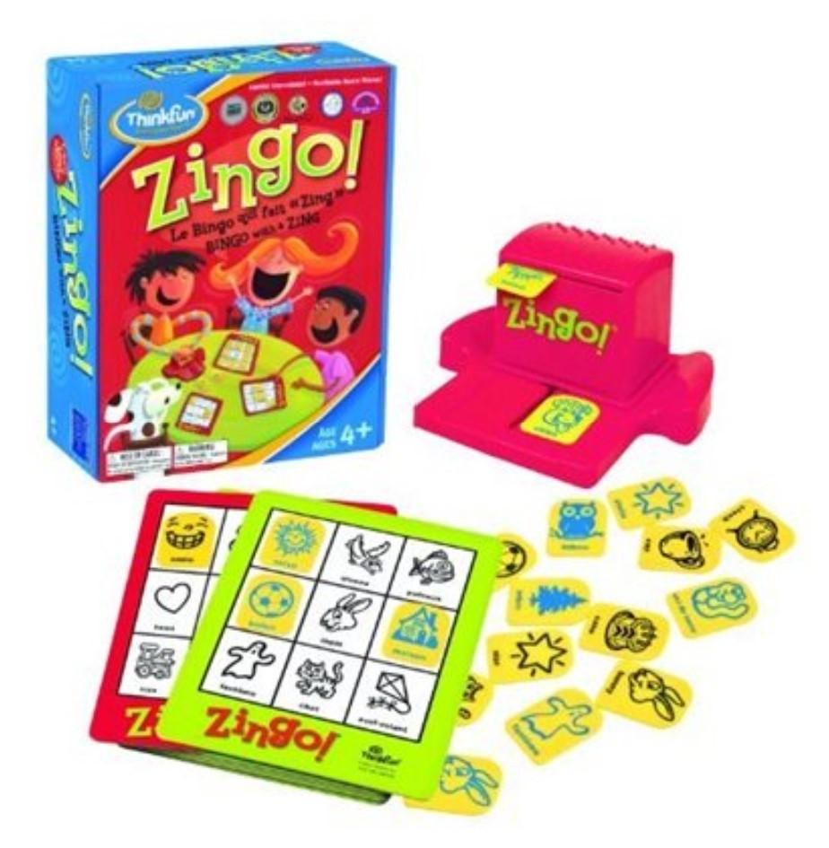 Spanish English Zingo game