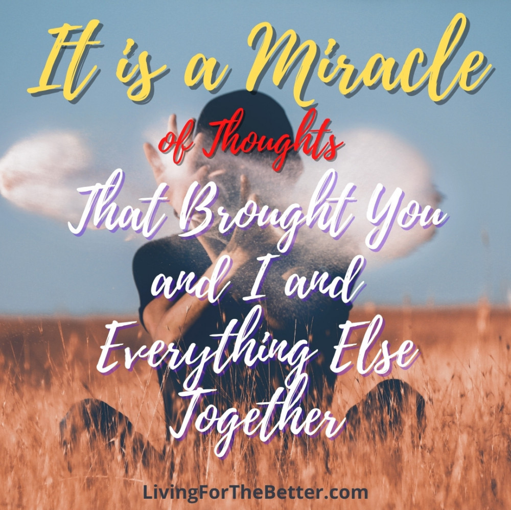 It All Adds Up to be Miracles