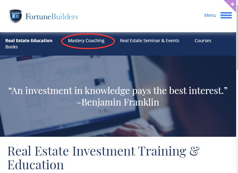 Fortune Builders Website Screenshot