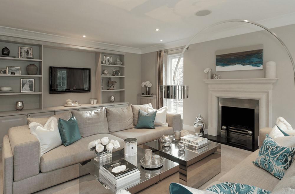 80-20 rule in gray living room