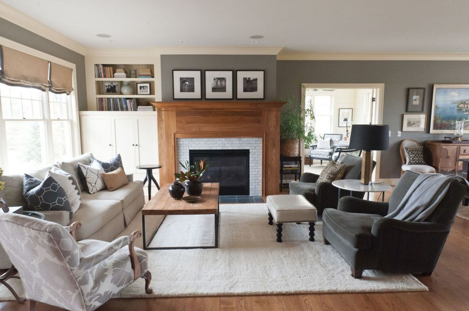 bright and airy gray living room