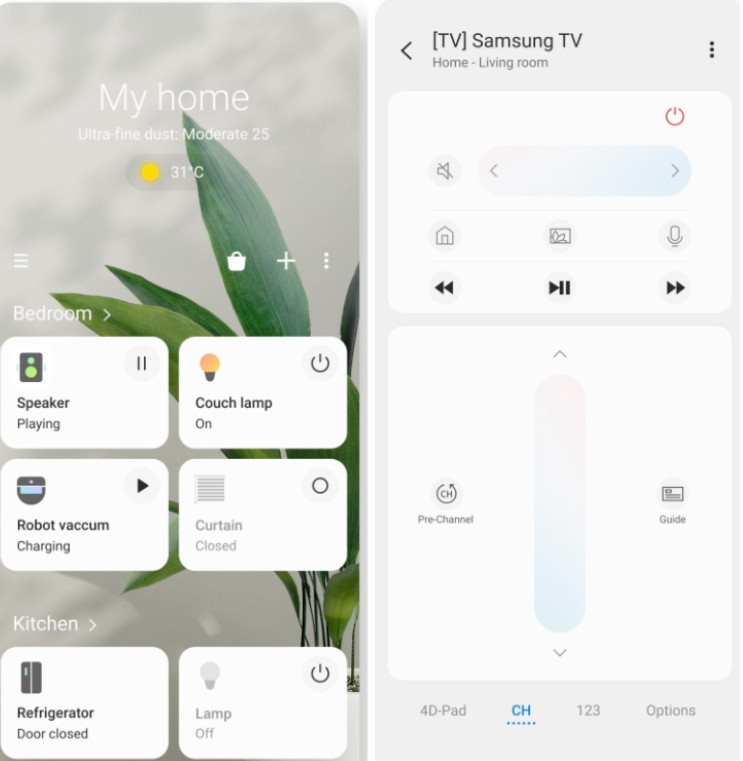 Samsung Smartthings App screenshot | Your Casa Concept