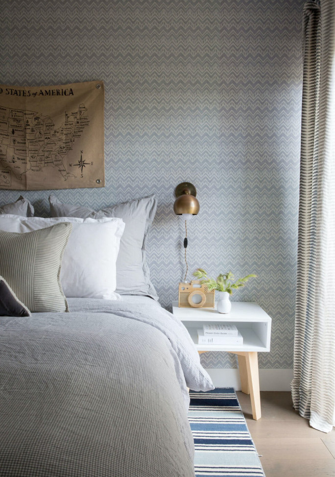 Printed curtain for bedroom