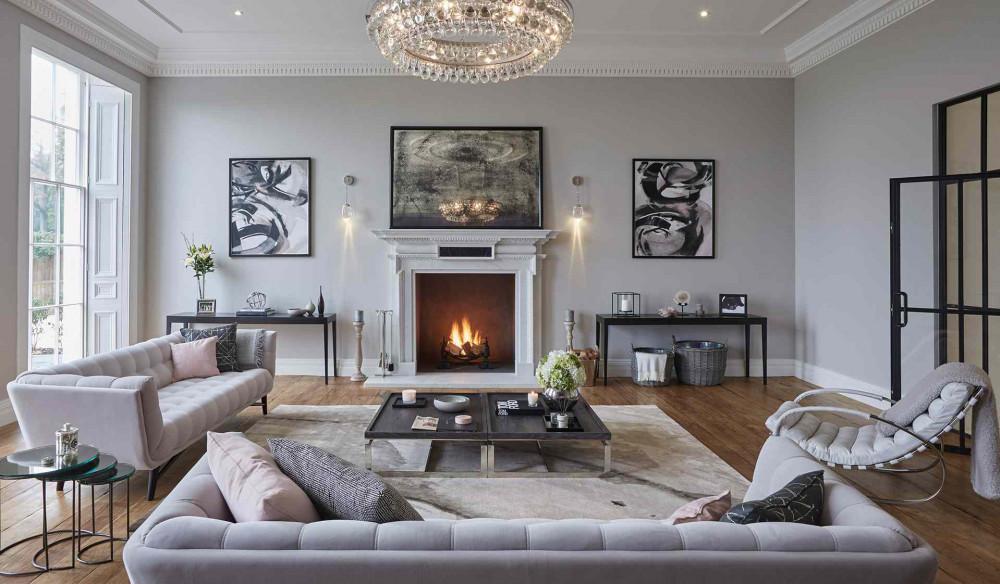 Elegant gray living room design