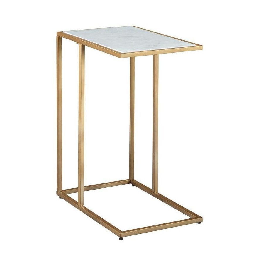 White C-table with gold finishing   Your Casa Concept