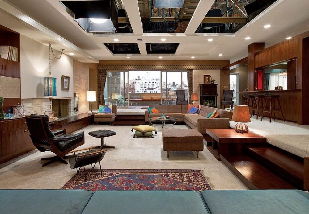 Mid Century Modern Living Room Mad Men Set