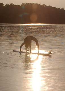 Lady doing Backbend on Paddle Board_2