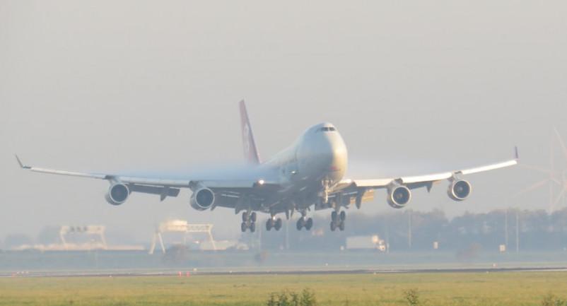 jumbo jet landing on runway