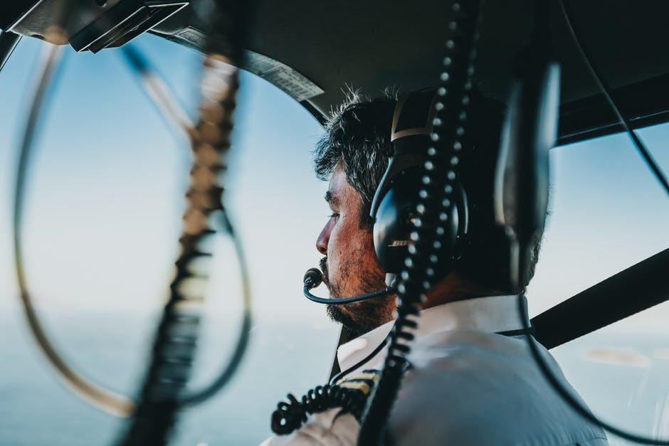 pilot flying in rain
