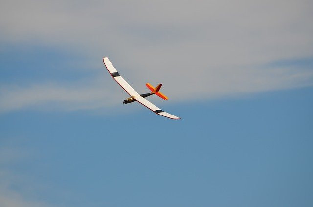 RC airplane electric glider flying