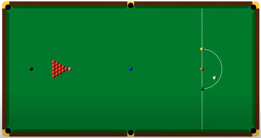 snooker table setup