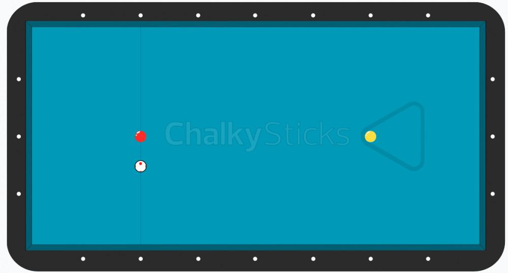 english billiards table set up